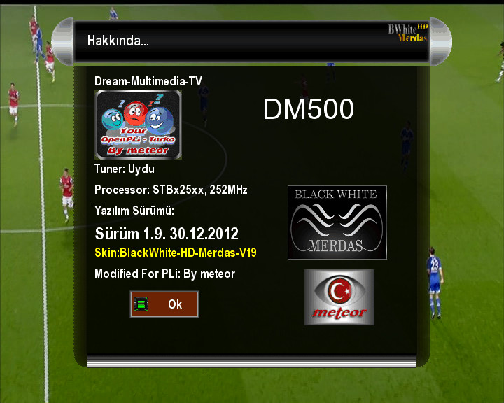 OpenPLi-Turko v29 DM500s BlackWhite HD V19_By meteor