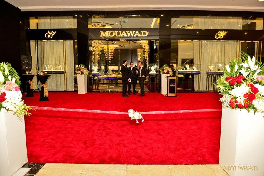 بالصور مايا دياب تنضم الى نجمات مجوهرات معوّض في الدوحة
