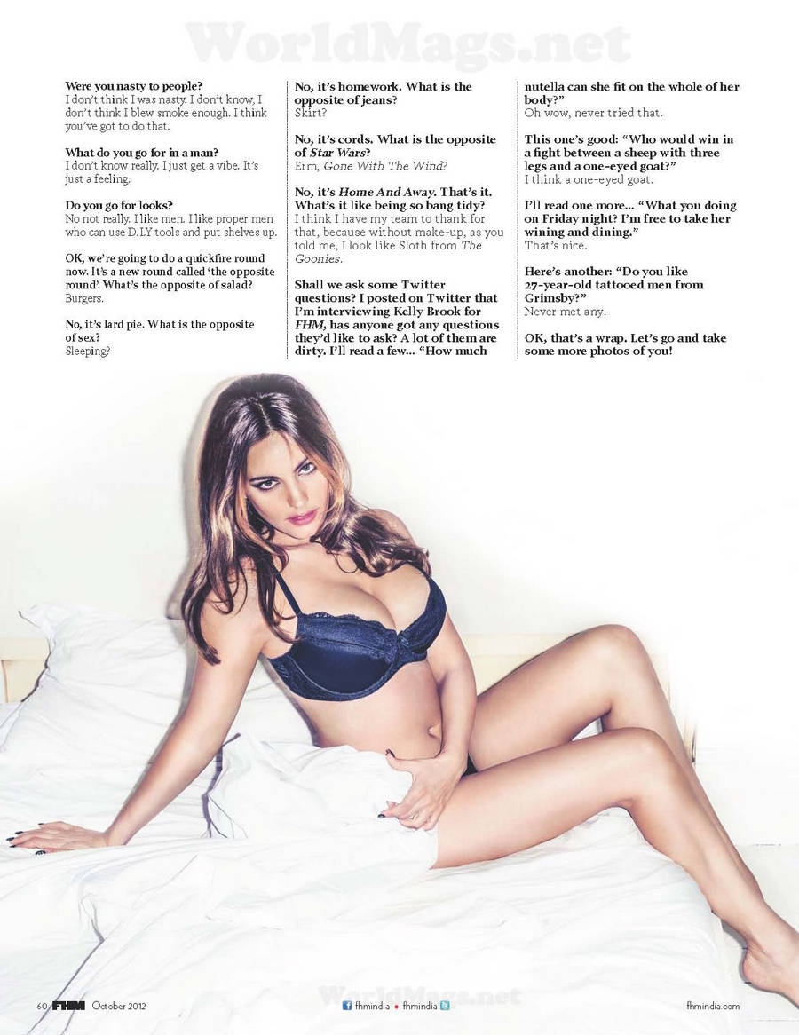 ��� ���� ���� ��� ���� ���� FHM ������� - Kelly Brook FHM India October 2013