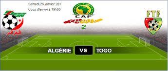 Alg�rie vs Togo en Coupe d'Afrique des Nations 2013 samedi 26/1/2013 en Afrique du Sud