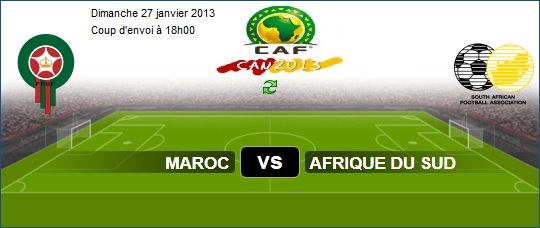 Morocco vs South Africa Africa Cup of Nations CAN 2013 Sunday 27/1/2013 in South Africa
