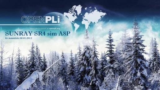 OpenPLi 3.0 OE2.0 by maumixio Sunray SR4 sim A8P 08.01.2013