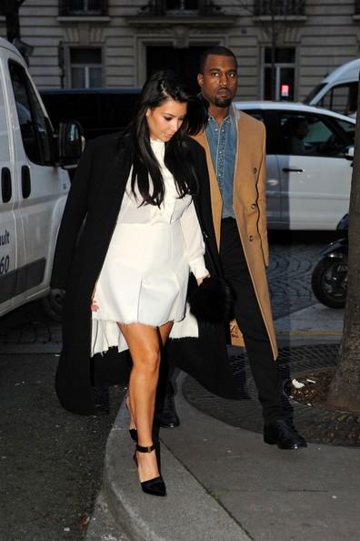 Kim Kardashian & Kanye West: Stephane Rolland Showroom