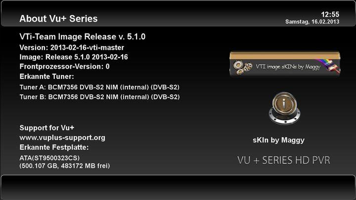 """VTi """"Vu+ Team Image"""" - v. 5.1.0 VU+ Solo2"""