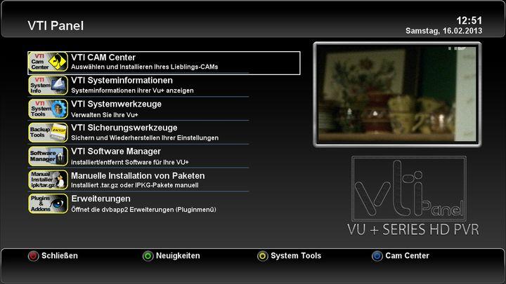 """VTi """"Vu+ Team Image"""" - v. 5.1.0 VU+ Duo"""
