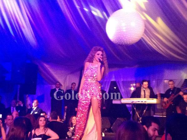 صور ميريام فارس ترقص وتغني بفستان ثوري في عيد الحب, صور رقص ميريام فارس 2013, رقص ميريام فاري في حفل عيد الحب 2013