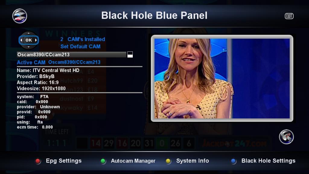 Black Hole 2.0.1 UK Ready VU+Solo2 Backup By Ten Below