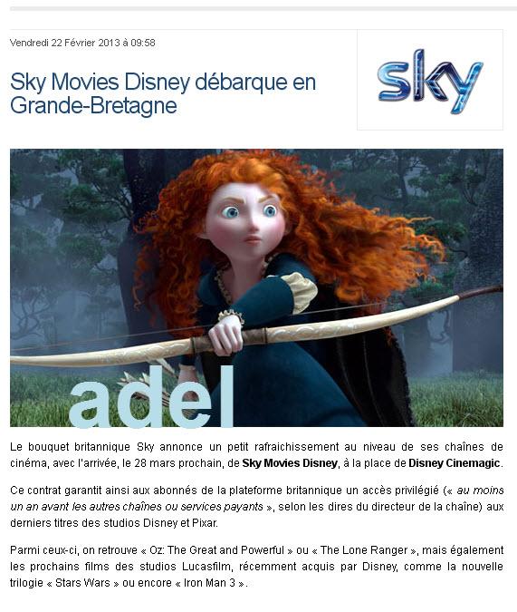 ������ ��� ���� Sky- ����� ���� Sky Movies Disney
