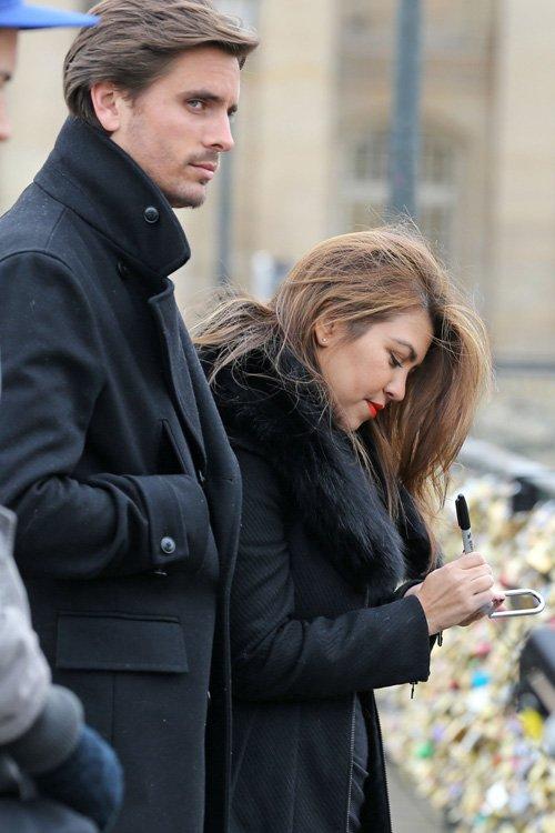 Kourtney Kardashian and Scott Disick Retail Romp In Paris