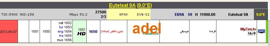 ���� ���� ����� Eutelsat Ka-Sat 9A @ 9� East - ���� My Zen tv- ��� ����� �����