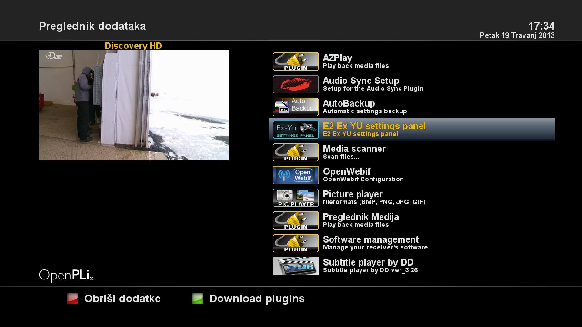 Ex YU settings panel E2 beta4 fix 19-4-2013