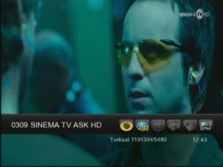 ���� ����� Sinema TV Aşk HD ��� ����� T�rksat 2A/3A @ 42� E