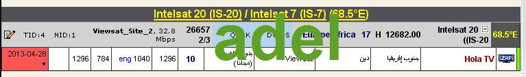 ���� ���� �����  Intelsat 20 (IS-20) @ 68.5� East - ���� ����� ���� ����(���� �������) ���� �����