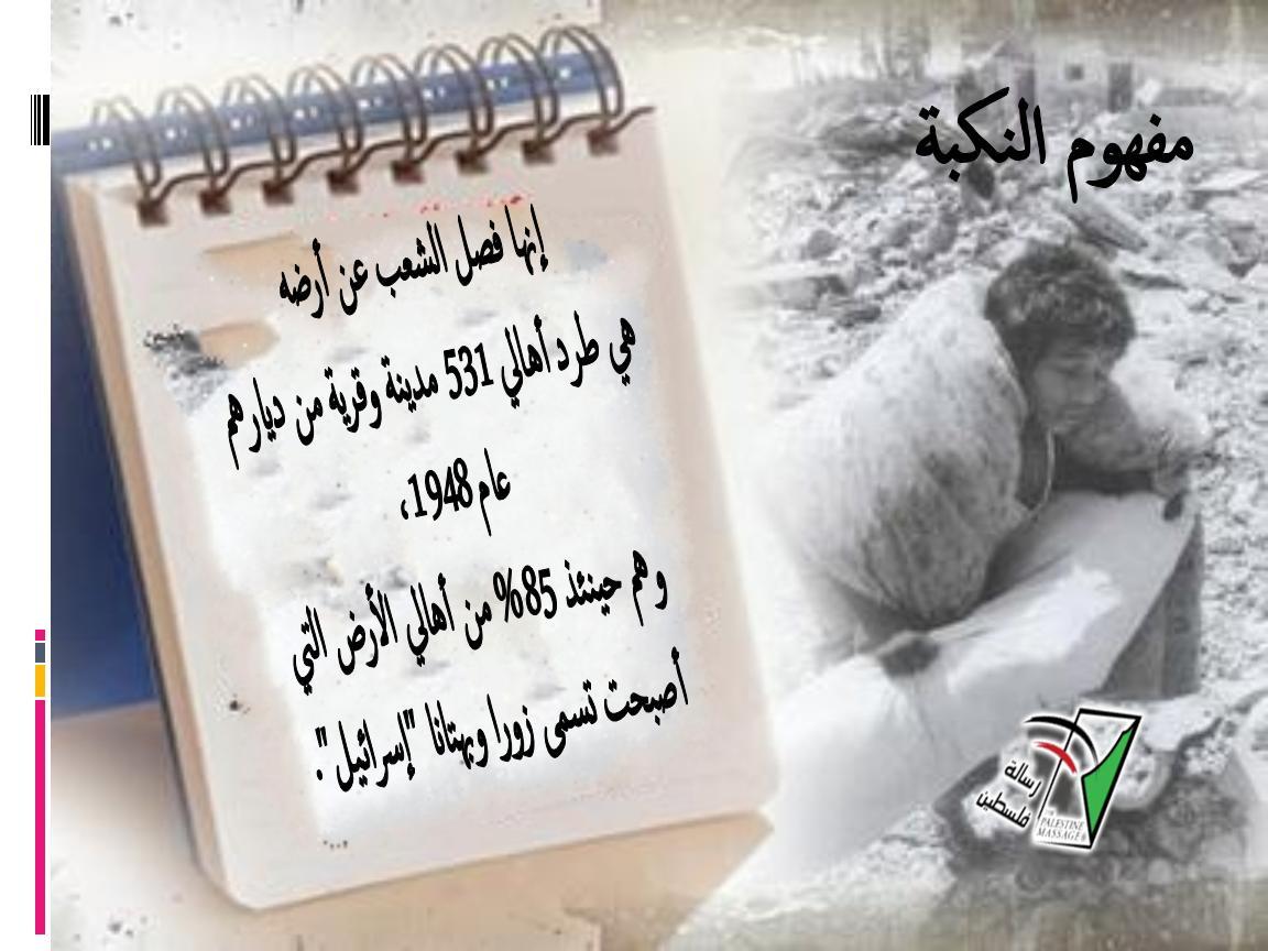 """الفلسطينيون يحيون ذكرى """"النكبة"""""""