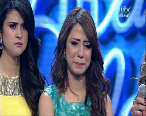 صور بكاء يسرا سعوف في الحلقة 18 من برنامج عرب ايدول 2