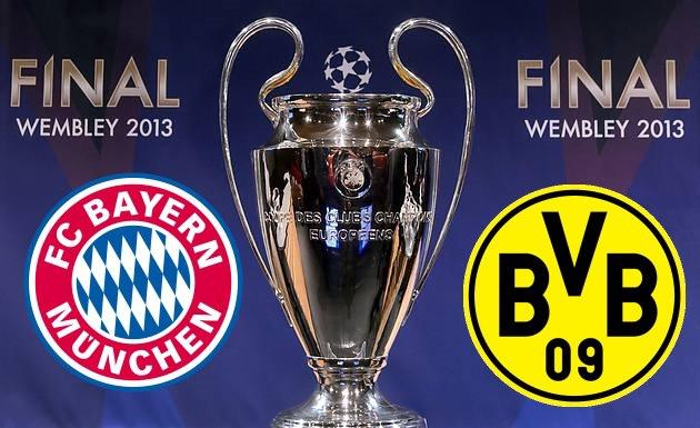 Bayern Munich vs Borussia Dortmund samedi finale ligue des champions 2013