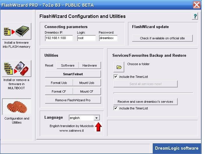 flashwizard pour dreambox 500