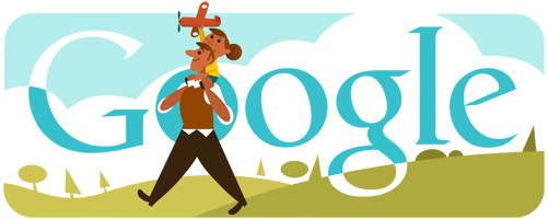 Father's Day today - Google search engine is celebrating Father's Day