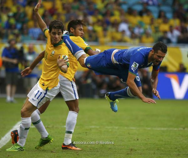 صور مباراة البرازيل وايطاليا في كاس القارات السبت 22/6/2013
