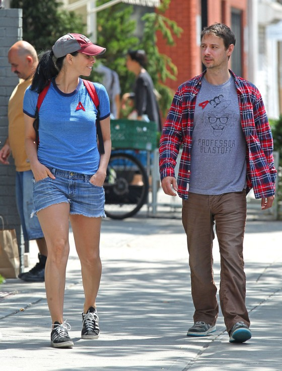 Sarah Silverman Wear short shorts while out and about in NY