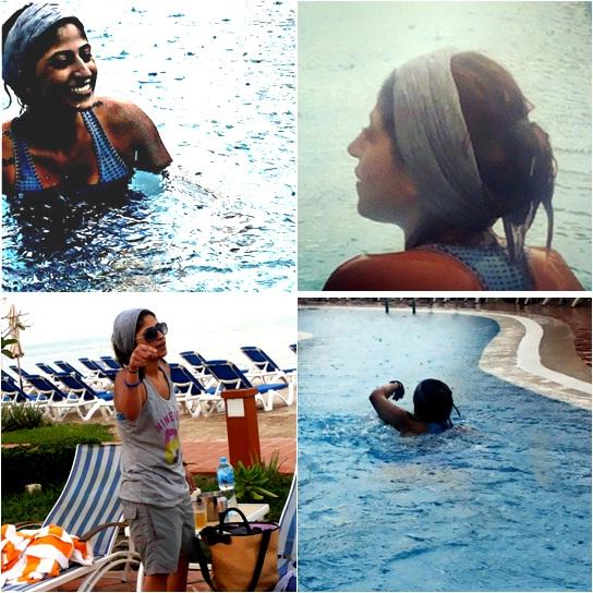 صور شجون الهاجري بملابس السباحة