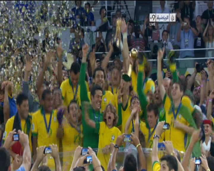 صور تتويج البرازيل بلقب كأس القارات 2013