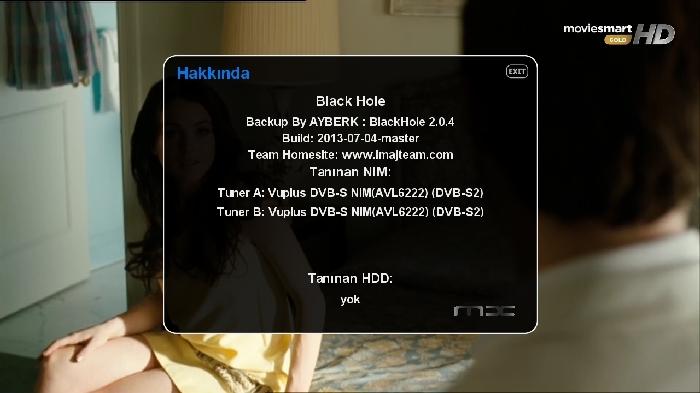 Black Hole Vu+ Duo2 2.0.4 Backup By AYBERK 11.07.2013