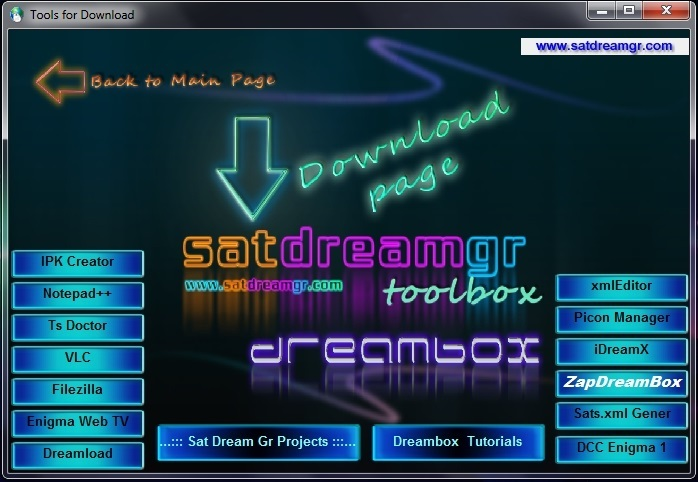 SatDreamGr Toolbox Dreambox Edition v.5