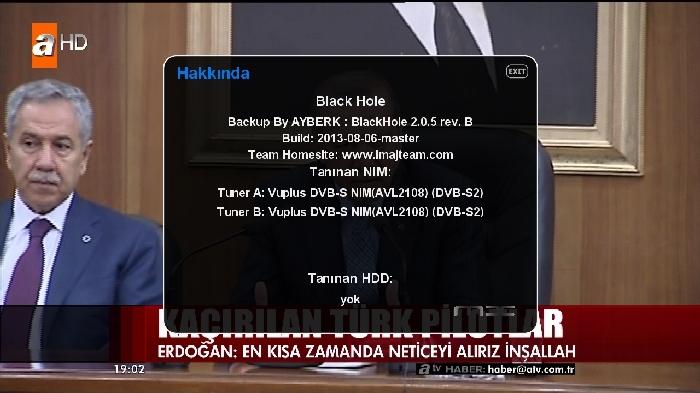 Black Hole Vu+ Ultimo 2.0.5 Rev.B Backup By AYBERK 15.08.2013