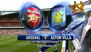 Arsenal vs Aston Villa 17/8/2013 premier league