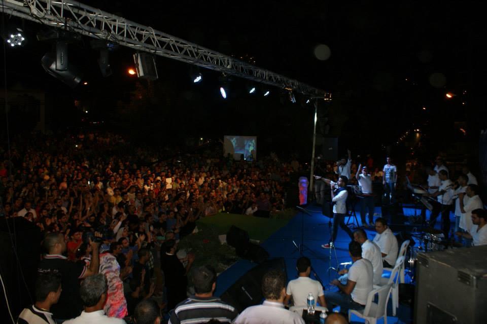 صور سعد رمضان في مهرجان العنب 2013