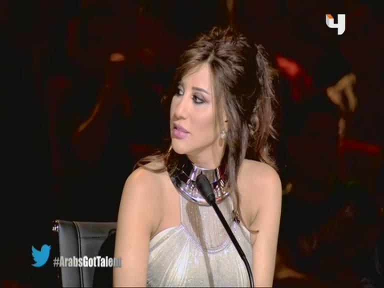 صور نجوي كرم في برنامج Arabs Got Talent حلقة يوم السبت 21-9-2013