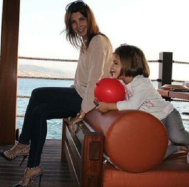 صور - جديدة لنانسي عجرم مع ابنتها ميلا 2014