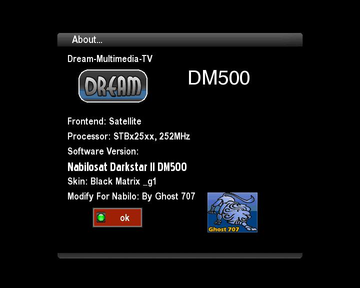 Nabilo Darkstar2 DM500s CCcam221 BM series 12/10/2013