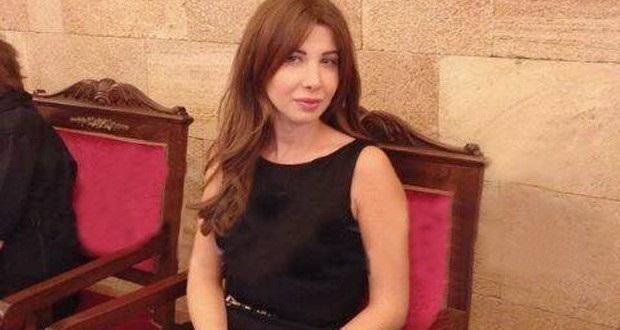 صور نانسي عجرم في عزاء وديع الصافي 2013