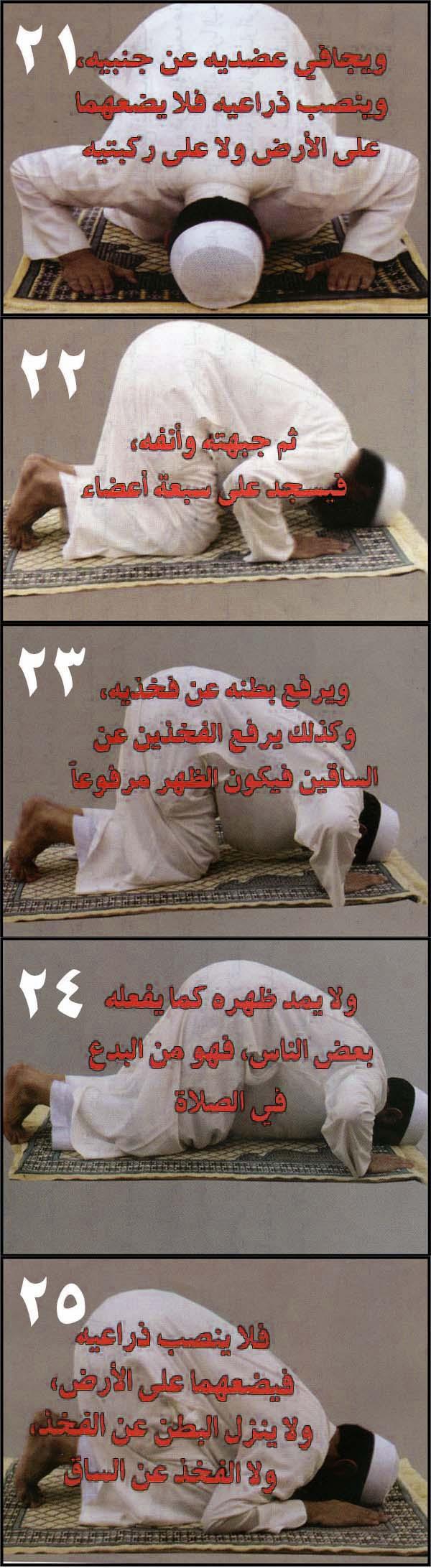 تعلم صفة الصلاة الصحيحة بالصور وعلّم أبنائك وأهل بيتك بأسهل طريقة ( صور)