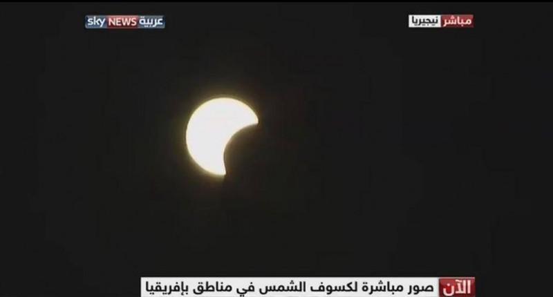 شاهد صور كسوف الشمس اليوم الاحد 3-11-2013 في جميع الدول العربية