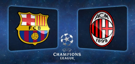today match Barcelona vs AC Milan 6/11/2013 Champions League