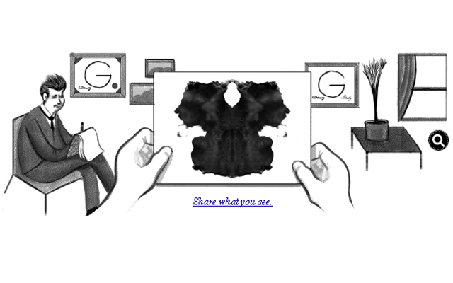 Today the 129 anniversary of the birth of Dr. Hermann Rorschach