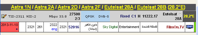 ���� �����Astra 1N/2A/2F @ 28.5/28.2� East  - ���� FilmOn.TV==-���� ����� (�����)