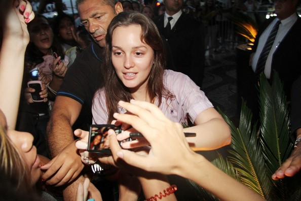 Leighton Meester Greets Fans in Brazil