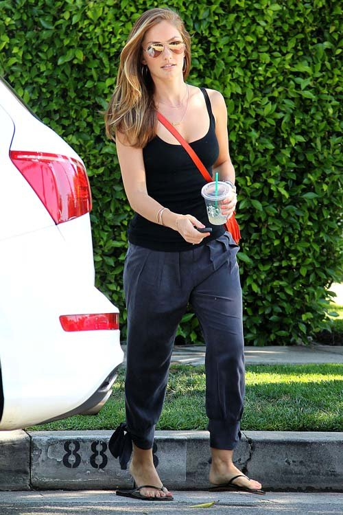 Minka Kelly Gets Tailored in West Hollywood