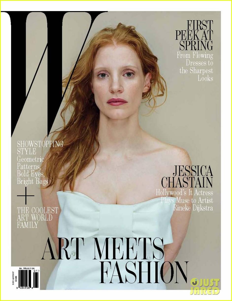 Jessica Chastain Covers 'W' Magazine January 2013