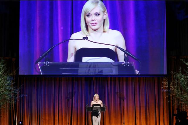 Rose McGowan at The Humane Society Gala in NY