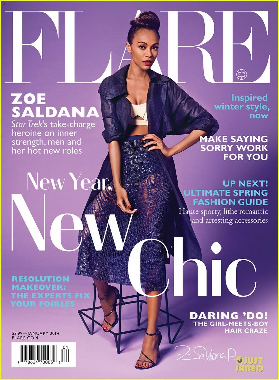 ��� ��� ������� ��� ���� ���� Flare , ���� ���  ��� ������� 2014 Zoe Saldana