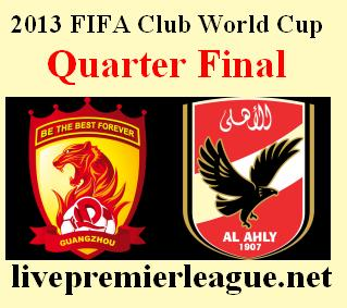 AlAhly vs Guangzhou today 14/12/2013