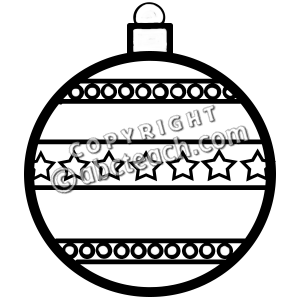 Black and White Clipart for Christmas 2014