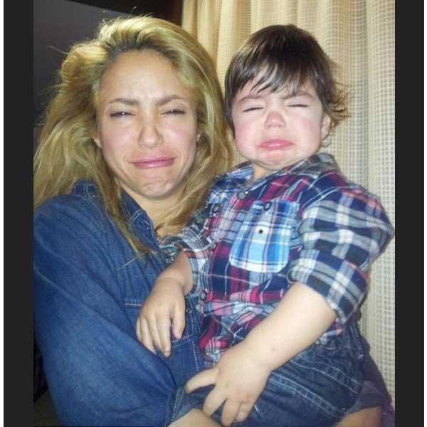 شاكيرا تقلد طريقة بكاء ابنها