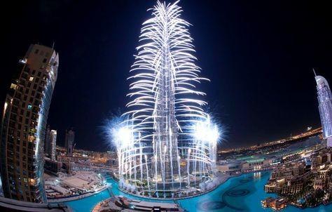 صور استعدادات برج خليفة لحفل راس السنة 2014 , صور جديدة من احتفالات دبي بليلة رأس السنة 2014
