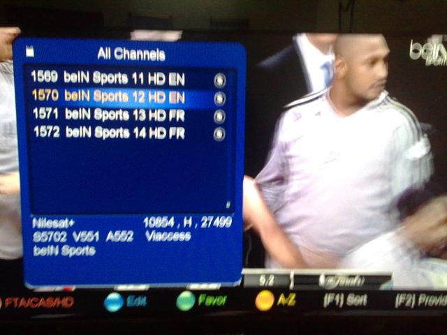 ���� ����� Nilesat 102/201@ 7� West  - ���� ����� ���� ���� beIN Sports